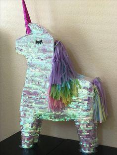 Unicorn piñata • Unicorn birthday party • rainbow unicorn party Birthday Pinata, 26th Birthday, Pinata Party, Rainbow Birthday Party, Unicorn Birthday Parties, Teen Party Themes, Birthday Party Decorations, Birthday Ideas, Party Ideas