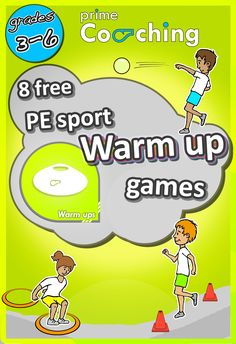 *8 FREE Elementary PE warm up games, perfect for grades 3-6 as your school. Download NOW!