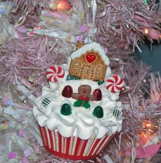 Fake Cupcake Chrismas Ornament with by FakeCupcakeCreations, $12.50