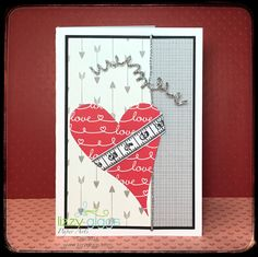 """A """"Make & Take"""" for the store using """"Love Every Inch"""" by Unity Stamp Company"""