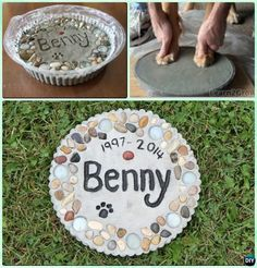 DIY Puppy Paw Print Memory Garden Stepping Stone Instruction - Paw Print Craft I . - DIY Puppy Paw Print Memory Garden Stepping Stone Instruction – Paw Print Craft I … – For Pets - Paw Print Crafts, Paw Print Art, Cat Paw Print, Dog Crafts, Dog Paw Prints, Pet Craft, Easy Crafts, Souvenir Animal, Garden Stepping Stones
