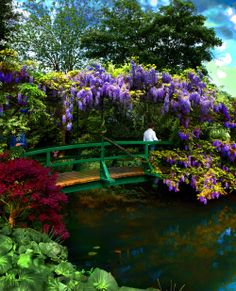 Claude Monet's garden, Giverny, Upper Normandy