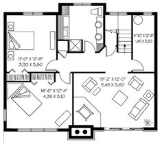 Basement Floor Plans  sc 1 st  Pinterest & LAKEVIEW 2804 - 3 Bedrooms and 2 Baths | The House Designers ...