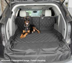 SUV 60/40 Split Cargo Cover / Liner for Dogs and Pets - Small Black