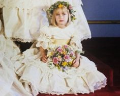 Clementine Hambro, great-granddaughter of Winston Churchill, as a bridesmaid at the wedding of Prince Charles and Lady Diana Spencer, July 1981.