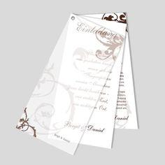 Pur, prägnant und edel – die klassische Hochzeitskarte verzaubert nicht nur durch das klare Design, sondern auch durch das, dafür vorgesehene, Hammerschlagpapier. Playing Cards, Cover, Books, Design, Wedding Card, Do It Yourself, Paper, Card Wedding, Birthday