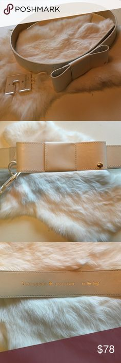 Gorgeous Kate Spade In The Loop Belt Gorgeous kate spade In The Loop belt, in winter white. Perfect finishing touch to your wardrobe. Hard to find, sold out item. NWT. kate spade Accessories Belts