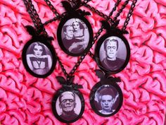 B movie Monsters Bat cameo necklaces - Etsy
