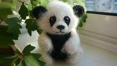Вязаная крючком панда