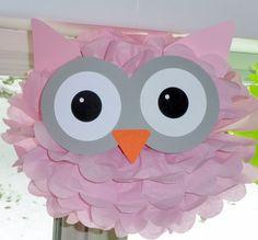 Owl pom pom kit baby shower first birthday party decoration via Etsy