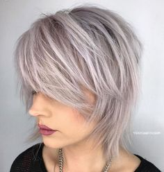 60 Most Universal Modern Shag Haircut Solutions Short-to-Medium Shattered Gray Shag Medium Shag Hairstyles, Medium Shag Haircuts, Edgy Haircuts, Thin Hair Haircuts, Short Hair Cuts, Cut Hairstyles, Office Hairstyles, Anime Hairstyles, Stylish Hairstyles