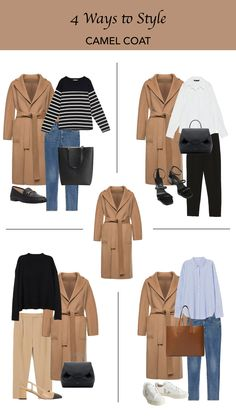 4 Ways to Style: Camel Coat # Casual Outfits dresses capsule wardrobe Winter Fashion Outfits, Modest Fashion, Autumn Winter Fashion, Fall Outfits, Capsule Wardrobe, Capsule Outfits, Instagram Outfits, Classic Outfits, Chic Outfits