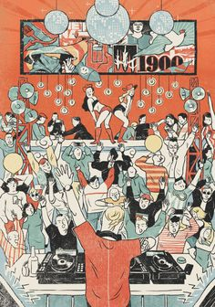 Cover Ilration For 1900 Magazine