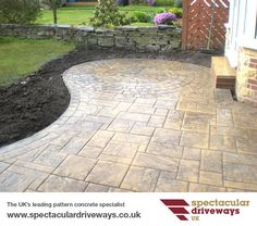 Pattern Imprinted Concrete Gallery of Driveways, Patios, Paths, Steps and Walls UK | Decorative Pattern Imprinted Concrete Specialists | Spectacular Driveways UK