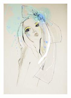 Blue | Lola Donoghue #watercolor #fashion #illustration