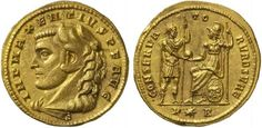 RI270 An Excessively Rare Roman Gold Medallion of 2 Aurei of Maxentius, as Caesar, (306-307 C.E.) | Flickr - Photo Sharing!