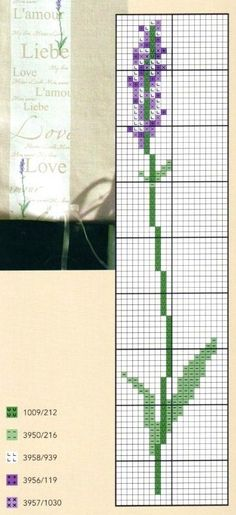 Brin de lavande cross stitch lavender