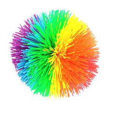 High Quality Large Size Koosh ball Silicone Bouncing Fluffy Jugging Ball Kids Gift Birthday Party Supplies Office Stress Toys
