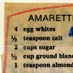 Amaretti Cookies :: Historic Recipe