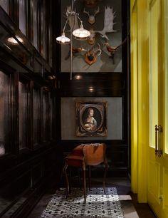 Interior design by Munge Leung. Interior Exterior, Interior Paint, Interior Decorating, Interior Design, Decorating Tips, Dark Interiors, Shop Interiors, Architecture Restaurant, Interior Architecture