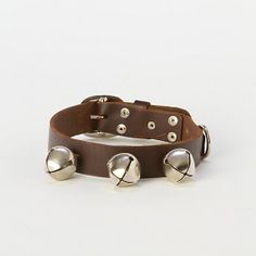 Sleigh Bell Dog Collar - available at www.wolfriverleather.com.  All hand made leather goods