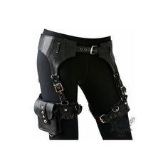 Skin Graft Garter Belt (€205) ❤ liked on Polyvore featuring accessories, belts, weapons, bags, pants, hook belt, adjustable belt and metal belt