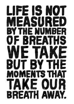 A4 Typography Poster famous quote print Life door blackandtypeshop