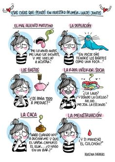 Agustina Guerrero, an illustrator based in Argentina, creates comics that show what her everyday life is like. Her work comments on many of the issues that she, as a woman, deals with on a day to day basis. Sara Anderson, Funny Images, Funny Pictures, Funny Cute, Hilarious, Brush My Teeth, New Relationships, Illustrations, Girl Humor