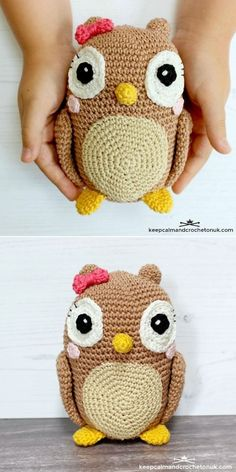 Adorable Crochet Owls. This lovely owl is most of all really simple to crochet, because it uses basic stitches, that you'll memorize in a heartbeat. The finished size of the amigurumi is approximately 15cm / 6 inches high. Avoid any plastic elements if you're gifting it to a child.  #freecrochetpattern #amigurumi #owl Crochet Owls, Free Crochet, Knit Crochet, Crochet Patterns, Knit Fashion, In A Heartbeat, How To Memorize Things, Stitch, Knitting