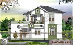 kerala home design architecture house plans with house design 2 storey modern with small house plans bungalow style House Balcony Design, Simple House Design, House Front Design, Modern House Design, Roof Design, Indian Home Design, Kerala House Design, Single Storey House Plans, Two Storey House