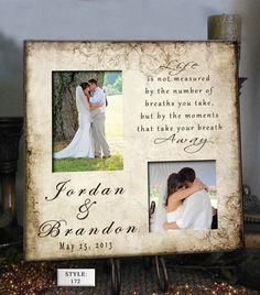 Personalized Wedding Photo Frame LIFE 16x16  by PhotoFrameCompany, $69.00