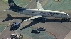 Commercial Passenger Jet Hits Utility Truck at Los Angeles airport.