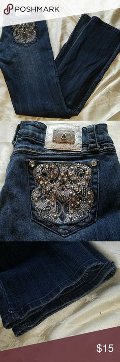 L.A. Idol boot cut jeans These jeans are in excellent used condition. No tears or stains and only light fraying on the hemline. The inseam on this pair is 32 inches. L.A. Idol  Jeans Boot Cut