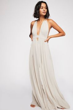 49fd118ceed60 Look Into the Sun Maxi Dress | Free People Rope Halter, Student Fashion,  Summer