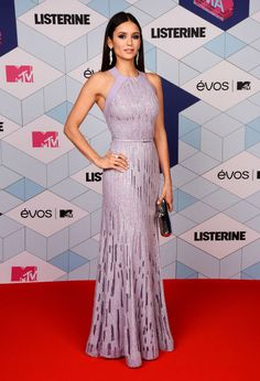 Nina Dobrev on the red carpet at the 2016 MTV Europe Music Awards.