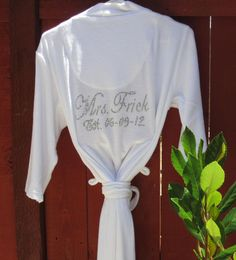 Getting Ready Robes Bridal Gowns Bride To Be Robe Spa Custom Embroidered Personalized Wedding