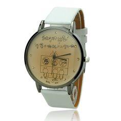 Cute Cartoon Caricature Dial White PU Leather Band Quartz Movement Wrist Watch Cute Cartoon Caricature Dial White PU Leather Band Quartz Movement Wrist Watch [51396] - US$4.76 : Aladdinmart