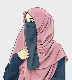 art hijab ♥Hɪᴊᴀʙ Gɪʀʟ♥The scarf is an essential element in the clothing of women together with hijab. Hijab Niqab, Muslim Hijab, Mode Hijab, Hijabi Girl, Girl Hijab, Muslim Girls, Muslim Women, Girl Cartoon, Cartoon Art