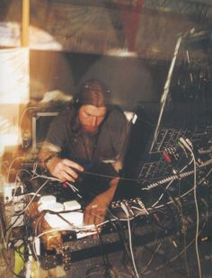 Aphex Twin with some of his modular gear. #synth #aphextwin