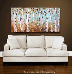 48  Painting original Tree painting Impasto super by jolinaanthony