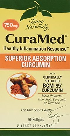 Terry Naturally CuraMed Curcumin BCM-95 750 mg-60 Softgels >>> Read more reviews of the product by visiting the link on the image.