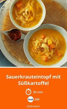 Sauerkrauteintopf mit Süßkartoffel - smarter - Kalorien: 349 kcal - Zeit: 20 Min. | eatsmarter.de