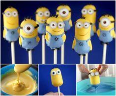 Mini Minion Cake Pops