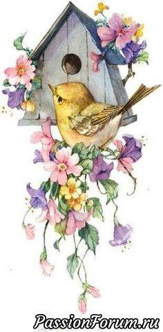 Птички и ... - запись пользователя Ольга (Ольга николаевна) в сообществе Картинки для творчества в категории Животные и птицы