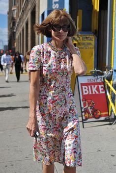 Anna Wintour at New York Fashion Week