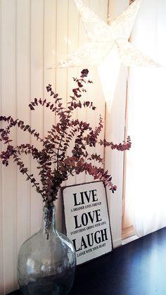 Flores secas en tinaja cristal cómo la q tengo