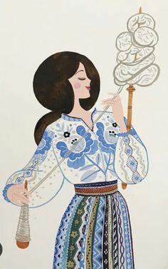 Folk Art Flowers, Flower Art, Foto Transfer, Scandinavian Folk Art, Ukrainian Art, Children's Book Illustration, Islamic Art, Lana, Watercolor Paintings