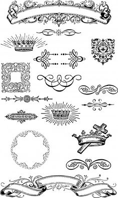 Vintage Graphic Design Free Vintage Grunge Vector and Clip Art Ornaments for T-Shirt Design - Vintage Frames, Vintage Clip Art, Vintage Graphic, Clipart, Pattern Texture, Shirt Designs, Etiquette Vintage, Borders And Frames, Vintage Grunge