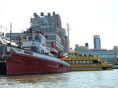 John J. Harvey Historic Fireboat, Hudson River, New York City