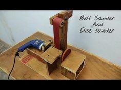 Making  A Belt Sander And Disc Sander || Make a Belt Sander Using Drill..